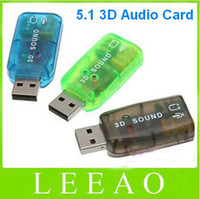 Wholesale 200pcs USB Channel Mini Virtual Stereo D Audio Sound Card Adapter F Audio Microphone