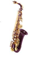 alto keys - SAX ALTO SAXOPHONE Purple Body golden KEY