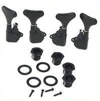 Wholesale New Black Guitar Sealed Tuners Tuning Pegs Machine Heads R2L For String Bass