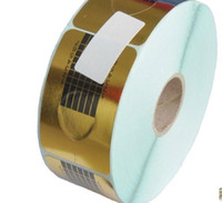 Cheap Wholesale - Nail Form Art 500 PCS Roll Golden Square paper prop refers to the child care