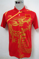 Wholesale Li Ning Man s T Shirt Table Tennis Ping Pong blue black red China Team QY1288