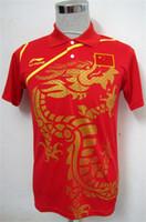 Wholesale Li Ning Man s Table Tennis T Shirt Ping Pong blue black red China Team QY1288