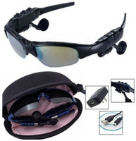 Wholesale Sunglasses Mp3 Player with Bluetooth Sunglass GB GB Headset black silver