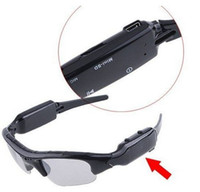 Wholesale Sunglasses DV DVR Hidden Recorder Video Camera glasses Mobile Eyewear webcam Card reader amp AC Charge