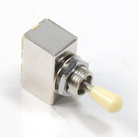 Wholesale New Chrome Box Style Way Closed Toggle Switch For Electric Guitar Cream Knob