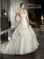 Reference Images One-Shoulder Taffeta wedding dresses collection 7514 satin one shoulder bridal gowns white Lace up applique ruffles