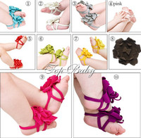 Wholesale top baby Foot flower Baby Sandals Barefoot Sandals Toddler Shoes pairs