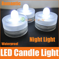 Wholesale LED waterproof candle lights wireless submersible led light red green white blue pink orange purple