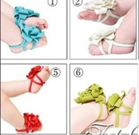 Wholesale Best selling top baby Foot flower Baby Sandals Barefoot Sandals Toddler Shoes pairs