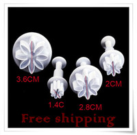 Wholesale 4 x Flowers Fondant Plunger Cutter Cake Decorating Tool