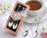 Wholesale The Perfect Blend Daisy color gift box Coffee Spoon Set Wedding Baby Shower Favors
