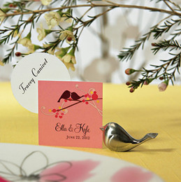 Wholesale Love Bird Place Card Holder Wedding Favors Gift Decoration