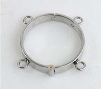 Wholesale Stainless steel four ear cylindrical lock collar sex product