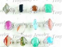 Wholesale Natural gemstone rings fashion rings costume rings finger rings