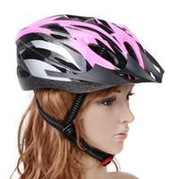 Bici della bicicletta del carbonio di età del casco di sicurezza sport con visiera EPS Bianco Giallo Rosa H8322