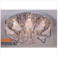 Wholesale 80W Crystal Chandelier Light with Bulbs Modern Glass Chandelier L50cm W50cm H25cm
