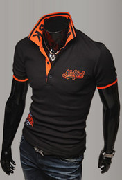 Wholesale 2012 HOT New Mens Casual Slim Stylish Embroidery Slim Long Sleeve Embroidery T shirts
