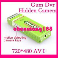 Wholesale No Retail Packing Motion Detection Gum Dvr Hidden Camera wireless avi fps