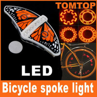Wholesale Bicycle Cycling Bike LED Light Tyre Wheel Spoke Lamp Red flash alarm light cycle accessories H8325