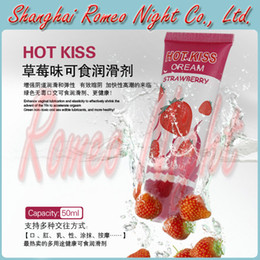 Wholesale Hot Sell Hot Kiss Strawberry Cream ml Edible Lubricant Personal Lubricant Suit For Oral Sex