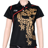 Wholesale Li Ning women s table tennis sportswear shirt ping pong shirt LA696
