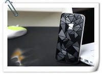 Wholesale 1USD Promotion Clear Stock Cheap Clear D Water Cube Glare Screen Protector Film Protective Cover Sticker Front Back for iPhone S