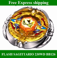 Wholesale Beyblade Metal Fusion D from china FLASH SAGITTARIO ED BB126 Top gyro Set kids toys