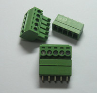 Wholesale 20 pin way Pitch mm Screw Terminal Block Connector Green Color T Type with pin