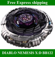 Wholesale Hot Beyblades Metal Fusion D from china DIABLO NEMESIS X D BB122 Tops gyro Set kids toys