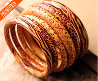 Bangle South American Women's 2014 Vintage Leopard Zebra Wooden lady PUNK BANGLE BRACELET Bangle Women Fashion Bracelet Mixed Colors