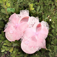Wholesale Hot Sale Pink WHite Mary toddler baby girl Flower shoes size
