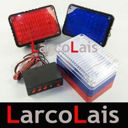10 Sets Car Multi-Function 2x40 LED Strobe Tail Light Red White Blue Warning Flash Controller 80LED