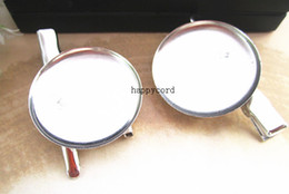 Silver metal Hair Clip Brooch Pin Backings 25MM 100pcs lot