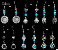 Silver China-Tibet Women's 30pcs Tibetan Silver earrings fashion earring mix order Jewelry
