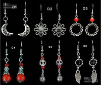 Wholesale Tibetan Silver earrings fashion earring mix order Jewelry