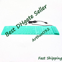 Wholesale USB Silicone Roll Up Foldable PC Computer Keyboard keys