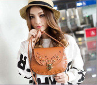 Wholesale 2012 lady fashion hot makeup bag retro pack camellia design PU leather bag pc