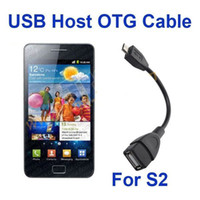 Wholesale 30pcs USB Host OTG Cable MicroUSB to Female USB for Samsung Galaxy S2 i9100 Galaxy note i9220 N7000