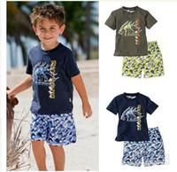 Boy 1-3years 80 90 100 110 120 baby boy cool dinosaur clothing set t-shirt +printing pants 2pcs set kids soft cotton clothes sdfsd