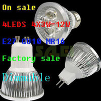 Wholesale 100pcs High Power Dimmable E27 MR16 GU10 X3W W LED Lamp spotlight downlight LED Bulbs By DHL