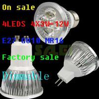 100pcs lot High Power Dimmable E27 MR16 GU10 4X3W 12W LED La...