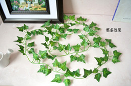 BEST SELLING Artificial Hanging Boston ivy Garland Silk Flower Vine Wedding Home Garden Party Decor