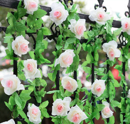 2013 Artificial Hanging Rose Garland Silk Flower Vine Wedding Home Garden Party Decor
