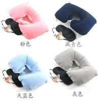 Wholesale Travel Set Inflatable Neck Air Cushion Pillow eye mask Ear Plug amenity kit