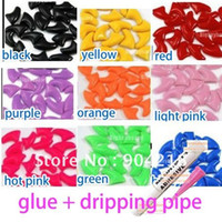 Wholesale 200pcs pack Medium Size Pet Cat Soft Paw Nail Caps Claw Control with Glue