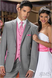 Wholesale Top quality New Groom Tuxedos Wedding Men s Suit Bridegroom Suits Jacket Pants Tie vest KO