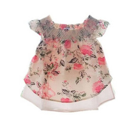 Wholesale Kids clothes childrens wear girls summer clothes american girl doll clothes girls t shirt flower