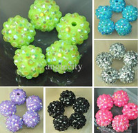 Wholesale Mix Color MM MM MM MM EXPOY Balls Resin Crystal Pave Spacer Loose Beads
