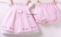 Wholesale baby clothes girls bow sleeveless dresses piece sets girls suit coffret children set dandys