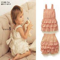 halter tops - baby sets girls Pink bow halter top lace shorts piece sets girls suit coffret chi set dandys